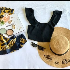 Black Zara Crop Top